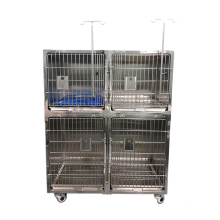 Combined type Stainless Steel veterinary animal Dog Cat Cage for pet hospital