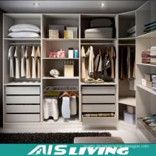L-Form aus Holz weiße Farbe Kleiderschrank zu Fuß in Schränke (AIS-W346)