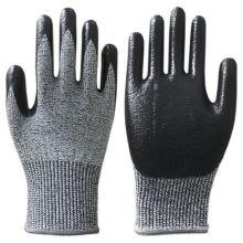 CE EN388 Nitrile Coated Oil Resistant Work  Glove Cut Resistant