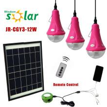 Lámparas solares de casa las zonas rurales, con 3 Bombillas de LED y cargador móvil