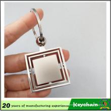 Llavero en blanco barato de la chapa de metal del logotipo personalizado