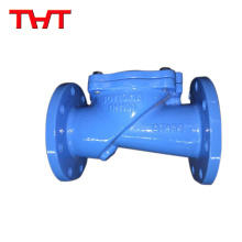 Vertical ductile iron swing disk check valve with counter weigh