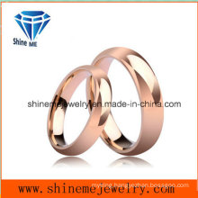 Fashion Lovers 18k Rose Gold Jewelry Tungsten Ring