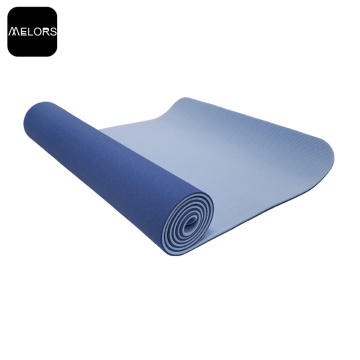 Logotipo personalizado Ecológico Doble Color TPE Yoga Mat