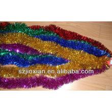 декоративной мишурой, гирляндой,garlandchristmas мишура мишура гарланд