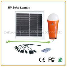 3w portable solar light with remote control