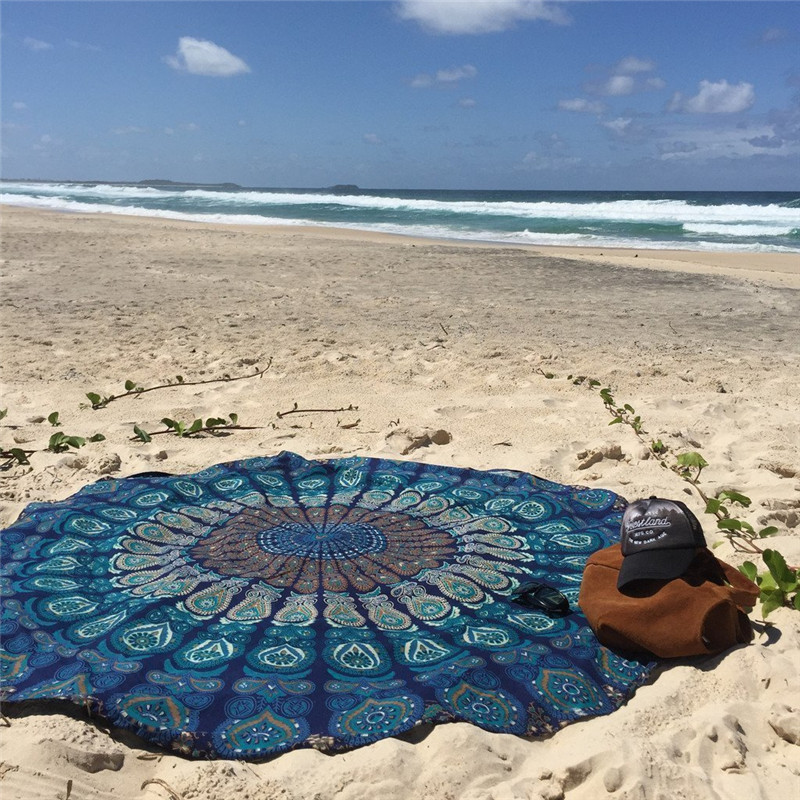Travel Extra Large Round Beach Towel