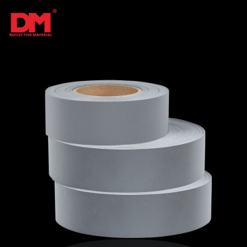 Black Sew On Reflective Material Tape for Clothing
