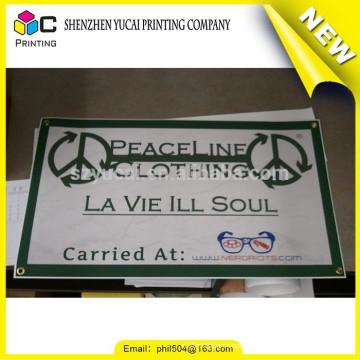 China fornecedor cusotm publicidade display pvc vinil banner e publicidade plástico vinil banner