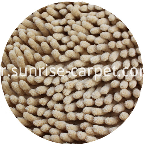 Chenille Rug with Microfiber beige color