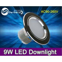 AC85 ~ 265V, blanco fresco blanco caliente 9W llevado abajo de la luz, abajo luz Bombilla incandescente de aluminio de Edison