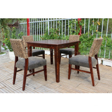 Trendy Water Hyacinth Coffee and Dining Set Wicker Furniture