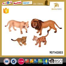 PVC small plastic lion toys