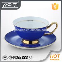 Porcelain decorative tea cup and saucer