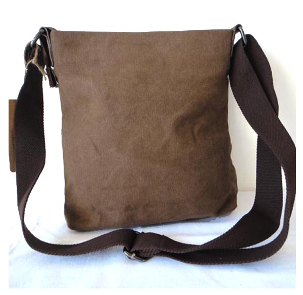 Leisure Leather Mix Canvas Travel Bag
