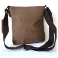 Vintage Leisure Leather Mix Canvas Traveler bolsas