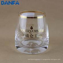 Gobeleur en verre à l'estampage d'or 280 ml