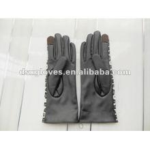 PU кожаные перчатки сенсорного экрана