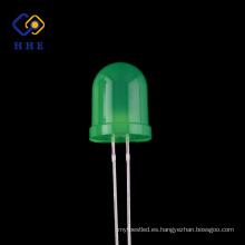 Diodos emisores de luz difusos redondos redondos del diodo LED del verde 10m m