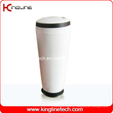 Copo de camada dupla de plástico de 400 ml com alça (KL-5014)