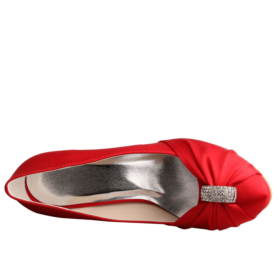 Platform Red Wedding Shoes