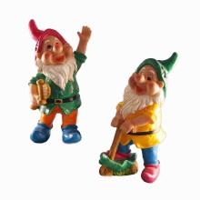 Hecho a mano Garden Gnome Decoración Polyresin Playing Dwarf
