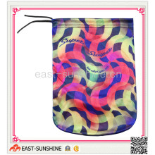 100%Microfiber, Drawstring Bag, Microfiber Pouch with Printing (DH-M0006)