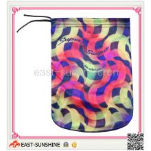 100% Microfiber, Drawstring сумка, мешочек из микрофибры с печатью (DH-M0006)