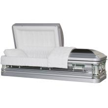 Butler escova Metal caixão de prata para nos mercado