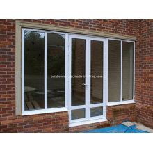 Несколько конфигураций Двойные стеклянные алюминиевые двери