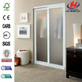 Aluminum Half Unbreakable Glass Office Double Doors