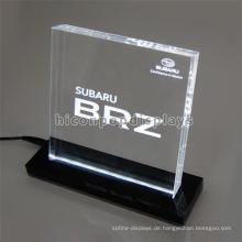 Langlebige Pure Acryl Block Display, Car Store Custom Countertop Programmierung Led Display Sign