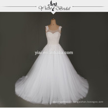 RSW724 Beautiful Pearl White Wedding Gowns And Bridal Dress
