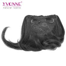 2016 новое поступление высокое качество человеческих волос клип в челкой