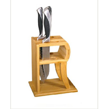 Bamboo 2 slot knife block