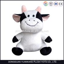 ICTI Low MOQ felpa material grande tamaño peluche juguetes de vaca