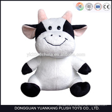 ICTI Low MOQ plush material big size stuffed cow toys