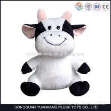 ICTI Baixo MOQ plush material tamanho grande recheado de brinquedos de vaca