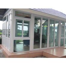 Ventana corrediza de PVC con rejillas doble vidrio templado