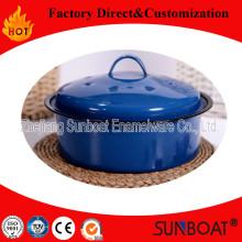 Sunboat Emaille Topf / Eintopf Pot / Steamer / Kochtopf