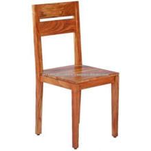 Chaise de salle à manger à finition naturelle en bois massif