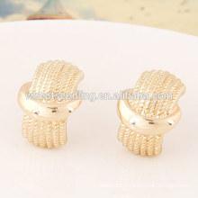 Bijoux en or à bas MOQ superbes boucles d'oreilles en or simple pour femmes