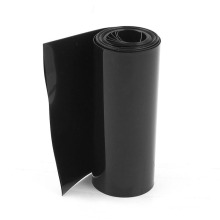 Tuyauterie noire de film de rétrécissement de la chaleur de PVC de 115mm pour la batterie 18650