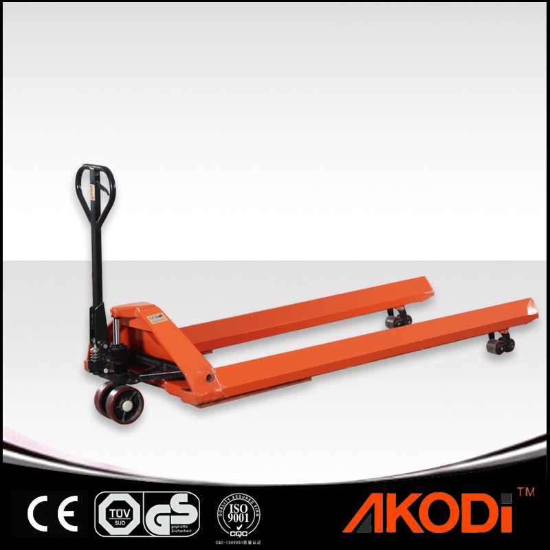 Pallet Truck with Long Triangular Forks