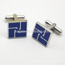 Edelstahl-Quadrat Gravierte Emaille Logo Manschettenknöpfe