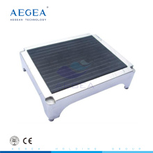 AG-FS002 Aprobado CE 304 acero inoxidable antideslizante cubierta superior taburete del hospital