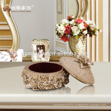 Handmade garden decoration for souvenir jewel box with embossment jewelry set packing box jeweled packing box