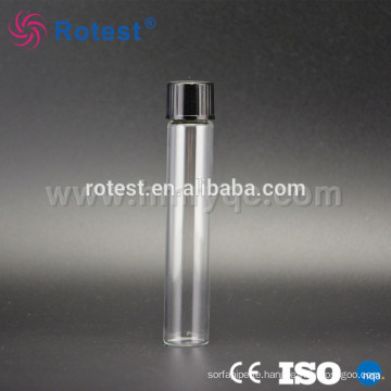 lab glass test tube with screw cap