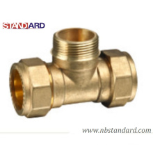 Brass Male Tee for Copper Pipe/Copper Pipe Fitting/Brass Male Tee