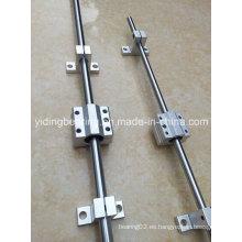 Rodamiento de deslizamiento deslizante de guía lineal suave Eje CNC de 30 mm con soporte deslizante de ranura SBR30